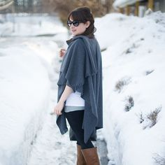 No sewing required to make this stylish, cozy winter cape.