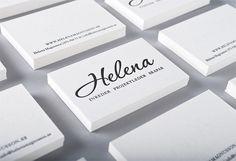 Business card for swedish Interior designer