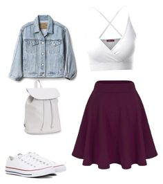 """School"" by charlie4444 on Polyvore featuring mode, Doublju, Converse, Gap et Aéropostale"