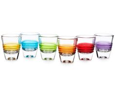 DAY SHOT GLASSES - SET OF 6 | Glassware, Barware, Cocktail, Entertaining, Whiskey, Vodka, Tequila, Shooters | UncommonGoods