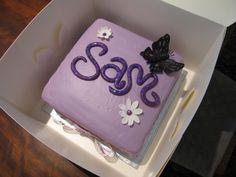 Purple girly cake