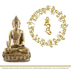Wandtattoo Medizin Buddha Mantra Tibet für Heilung, Liebe und Weisheit die Rezitation des Medizin Buddha Mantras ist lieben zur Heilung #lichterleben #buddha #medizinbuddhamantra