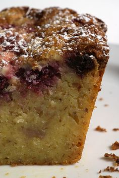 Raspberry, White Chocolate, and Almond Loaf~