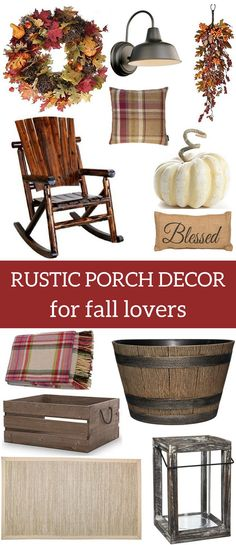 Rustic Porch Decor for Fall Lovers A Brick Home: fall porch ideas, fall porch decor, rustic fall decor, rustic porch, farmhouse decor ideas Decoration Inspiration, Decor Ideas, Rustic Fall Decor, Country Farmhouse Decor, Country Homes, Modern Farmhouse, Autumn Home, Rustic Interiors, Porch Decorating