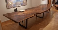 "Gorgeous Huge Black Walnut Table from Urban Hardwoods. They do an incredible job enhancing the ""Beauty of Wood"""