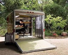 For the days I want to work from the beach. Converted shipping container office