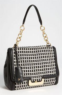 Diane von Furstenberg 'New Harper' Check Wool  Shoulder Bag available at Nordstrom