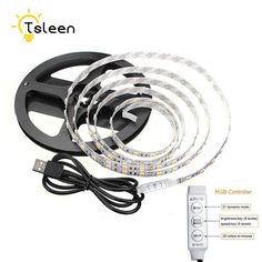 TSLEEN USB Power Suppy RGB ledstrip lights SMD5050 Flexible led Strip bar Light Strips LED Tape led strip 0.5 1 2M #Affiliate