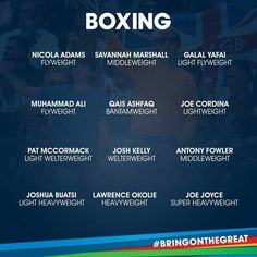 Boxing squad. Team GB Rio 2016