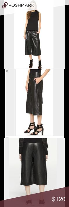 Rag and Bone black leather gauchos🎈 Rag and Bone black leather gauchos, 100% lambskin, lining 65% cotton, 32% polyester, 3%elastane. Brand new with tags attached. No pp, no trades rag & bone Pants