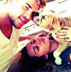 Too cute! Liam and Miley's family photo haha
