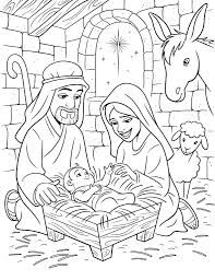 Image Result For Nativity Coloring Pages