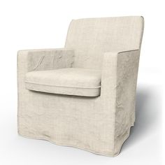 Karlstad, Armchair Covers, Armchair, Loose Fit Urban using the fabric Brera Lino Natural