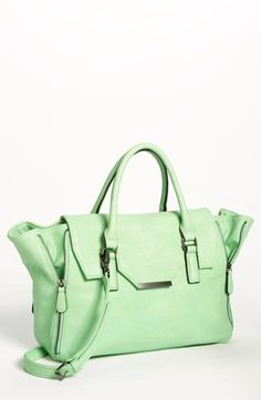 mint leather satchel