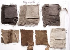 natural fabric dye with walnuts and iron