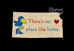 KU Jayhawks There's no place like home print.