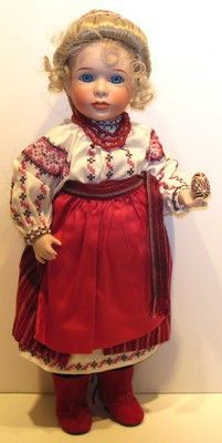 PASCHA/UKRAINE~PORCELAIN DOLL~WENDY LAWTON~EASTER~CHERISHED CUSTOMS~EGG~STAND (06/18/2013)