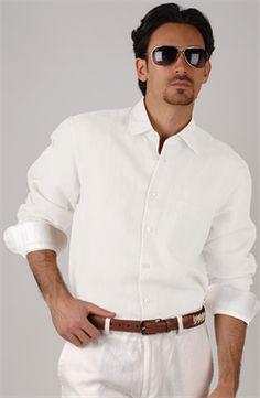 Show details for Signature Linen Classic LS Shirt