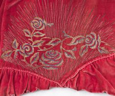 Edwardian Clothing   Stern Brothers embroidered silk velvet evening cloak, c.1918. The sumptuous cloak retains the easy, unstructured comfort of a cape with just a suggestion of sleeves. The luxe silk velvet fabric falls in graceful, full folds from the shoulder yoke. The distinctive, aristocratic embroidery on the shoulders is particularly noteworthy.