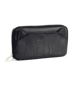 black cat leather meow wallet  14.95 H M Cat Wallet b3cca4cda4e0c