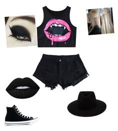 """Untitled #39"" by aubrey-corbett on Polyvore featuring Converse, Lime Crime and rag & bone"