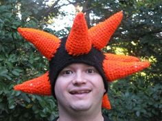 Funky Sea Urchin Crazy Spike Hat Crochet Pattern PDF $3.00 from ohthepollybilities Etsy Shop