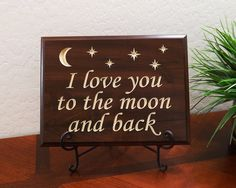 Decorative Wood Sign Plaque Wall Decor with by TimberCreekDesign, $34.99