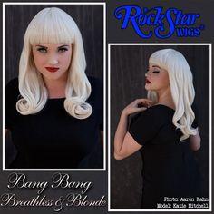 Rockstar Wigs Cheap Blunt Bettie Page, Katy Perry blonde shoulder length wigs