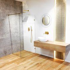 Projekt Iness-Łazienka w stylu glamour ze słotymi dodatkami-złota armatura-podświetlana sciana Dom, Bathtub, Bathroom, Mirror, Furniture, Home Decor, Standing Bath, Washroom, Bathtubs