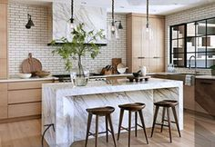 55 Smart Innovative Kitchen Island Ideas and Designs to Makeover Your Home - Contemporary Modern Kitchen Small Kitchen Ideas, DIY, Kitchen Remodel - Designblaz Kitchen Interior, New Kitchen, Kitchen Decor, Kitchen Ideas, Kitchen Wood, Kitchen Layout, Cheap Kitchen, Kitchen Trends, Interior Modern