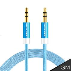VOXLINK 10FT/3M Gold Plated 3.5mm Male to Male Car Aux Auxiliary Cord Stereo Audio Cable For iPhone iPod CAR PC MP3/MP4 Speaker