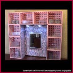 dollar tree diy Dollar Store Crafter: Turn Dollar Tree Mini Crates Into A Desk Or Dresse.