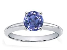 Genuine Tanzanite Solitaire Engagement Ring tanzanite engagement rings