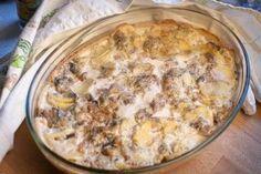 Рецепт запеченной картошки с грибами в сметане