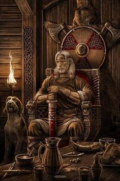 Móði,he is the god of battle wrath and served as the patron for the berserkers. https://www.facebook.com