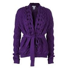 Designer Clothes, Shoes & Bags for Women Woolen Tops, Purple Cardigan, Cable Knit Cardigan, Purple Rain, Wardrobes, Autumn Winter Fashion, Girl Fashion, Sweaters, Cardigans