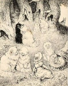 The woodland cats | Louis Wain