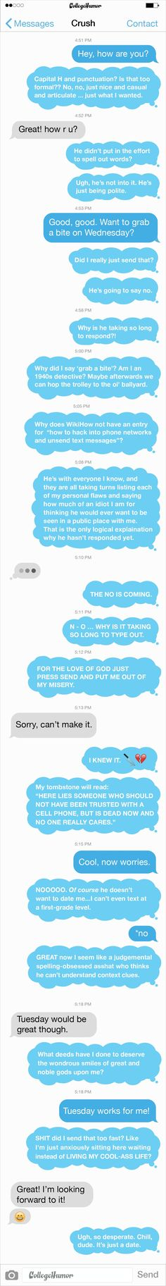 The Nerve-Racking Experience of Texting Someone You Like