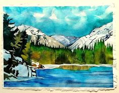 """NEW PAINTING... Finished today (May 24/20)! """"Banff Springs Backyard""""  Watercolour on St. Armand handmade paper, 18x24""""  $1300. CAD **Message me for purchasing arrangements**  Original Art... A one-of-a-kind painting has depth, a story, and an emotional connection... blassart.com #art #artforyou #buyart #artcollectors #artlovers #originalart #fineart #contemporaryart #CanadianArt #watercolor #painting #landscape #BanffNationalPark #Alberta #Canada #CanadianArtist #womanartist Banff Springs, Banff National Park, Canadian Artists, S Pic, Watercolor Paintings, Watercolours, Artist Art, Storytelling, Buy Art"""