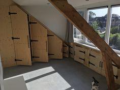 Attic Bedroom Storage, Garage Bedroom, Attic Closet, Dormer Roof, Shed Dormer, Dormer Windows, Cottage Style Doors, Building A Door, Barn Door Designs