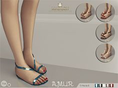 The Sims Resource: Madlen Amur Sandals by Mj95 • Sims 4 Downloads