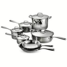 The Tramontina Gourmet Prima Cookware Set is ideal for all your cooking needs. These products feature an impact-bonded base with layers, consisting of stainless steel, an aluminum core for conductivity, and a magnetic stainless steel outer layer. Hot Pot, Copper Cookware Set, Induction Cookware, Hammered Copper, Fun Cooking, Food Preparation, Vikings, Stainless Steel, Stainless Dishwasher