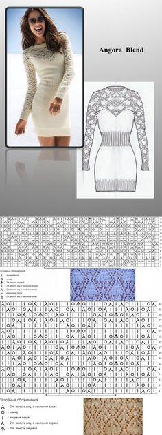 Подборка схем для платья из ангоры от VICTORIA'S SECRET