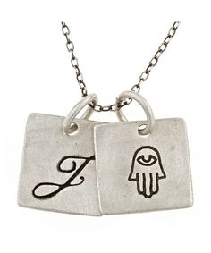 Urban Sweetpea Hamsa Double-Pendant Necklace