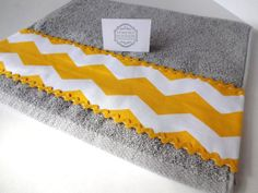 Quality Plush OneofaKind handmade towel Grey and by AugustAve, $13.00