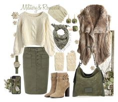 """""""military & romantic"""" by inna-babich ❤ liked on Polyvore featuring J Brand, Burberry, The Artizant, Accessorize, Chicwish, Pomellato, Calypso St. Barth, Marc by Marc Jacobs, Shinola and women's clothing"""