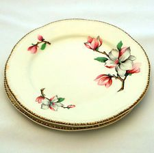 Set of 2 Bread and Butter Plates Homer Laughlin Dogwood Liberty Vintage