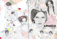 Calvin Klein 2004 ad campaign by Charles Anastase. Planning on getting the gymnast girl with hoola hoop surrounded by colored ink splatters.