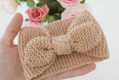 Et lille strikket pandebånd – opskrift…