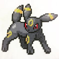 Umbreon Pokemon perler beads by philthyturtle